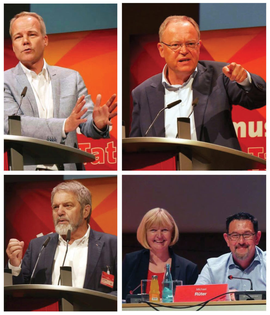 Bezirksparteitag, SPD, Lüneburg, Bezirk Hannover, Dr. Matthias Miersch, Stephan Weil, Ulrich Mädge, Andrea Schröder-Ehlers, Michael Rüter