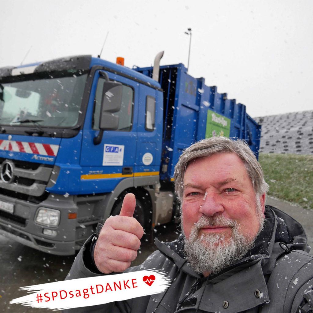 #SPDsagtDanke an die Alltagshelden in der Coronakrise - Müllabfuhr