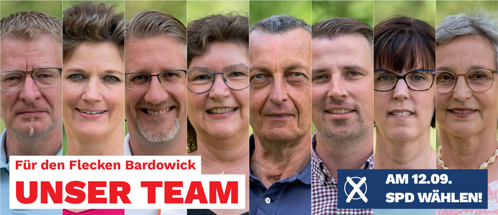 SPD Kandidat:innen zur Kommunalwahl 2021 Flecken Bardowick