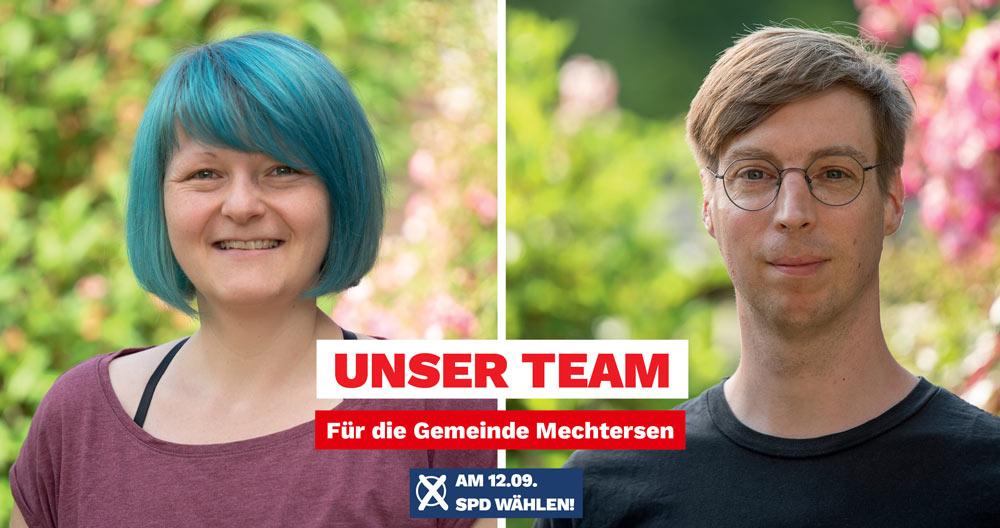 SPD-Kandidatin Aline Langbartels und Hagen Langbartels für Mechtersen